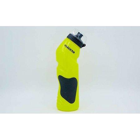 Бутылка для воды спортивная FI-5166-Y 750мл LEGEND (PE, силикон, желтый)