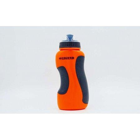 Бутылка для воды спортивная FI-5167-OR 500мл LEGEND (PE, силикон, оранжевый)