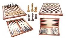 Шахматы шашки нарды 3в1