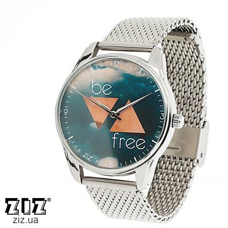 Часы наручные металл Будь свободным, ZIZ-1713031