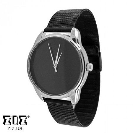 Часы наручные металл Черный Минимализм, ZIZ-1700029