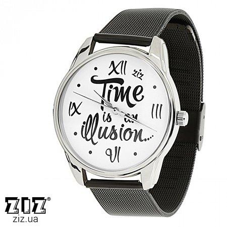 Часы наручные металл Иллюзия времени, ZIZ-1715429