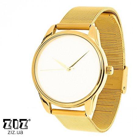 Часы наручные металл Минимализм золотой, ZIZ-1799930