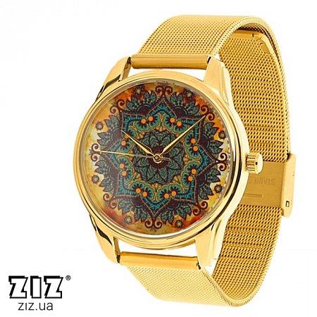 Часы наручные металл Золотые узоры, ZIZ-1714330
