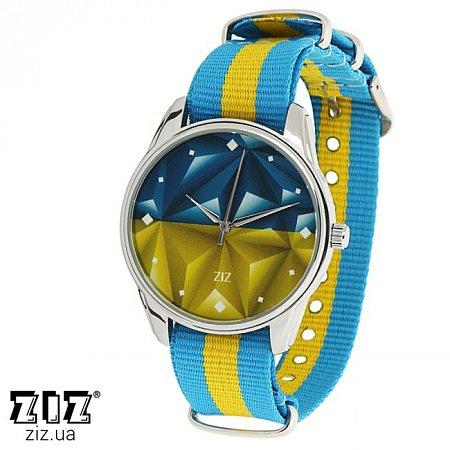 Часы наручные (нейлоновый ремешок) Флаг треугольники, ZIZ-1715933