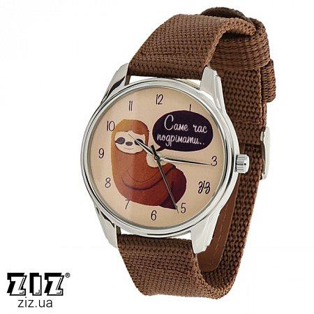 Часы наручные (нейлоновый ремешок) Ленивец, ZIZ-1714436