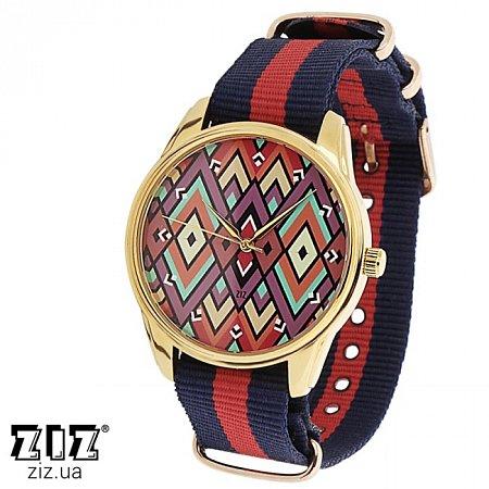 Часы наручные (нейлоновый ремешок) Ромбы, ZIZ-1715634