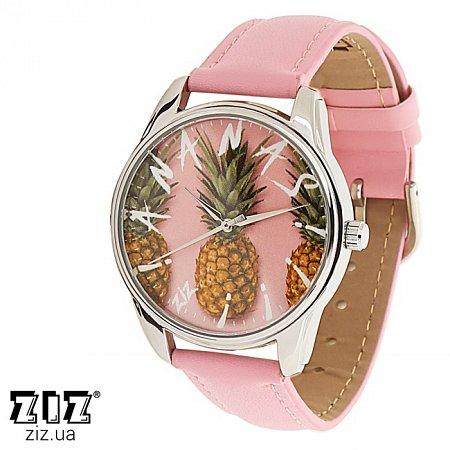 Часы наручные с рисунком Ананас розовый, ZIZ-1412713