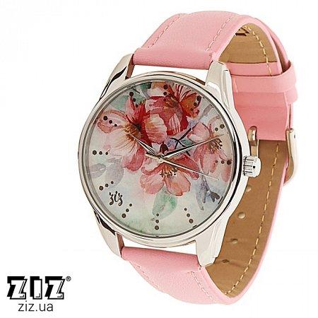 Часы наручные с рисунком Цветение розовый, ZIZ-1412113