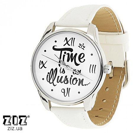 Часы наручные с рисунком Иллюзия времени белый, ZIZ-1415402