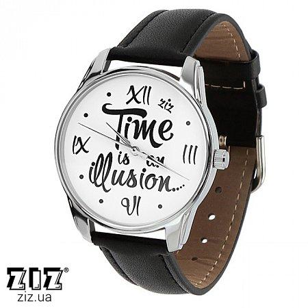 Часы наручные с рисунком Иллюзия времени, ZIZ-1415401