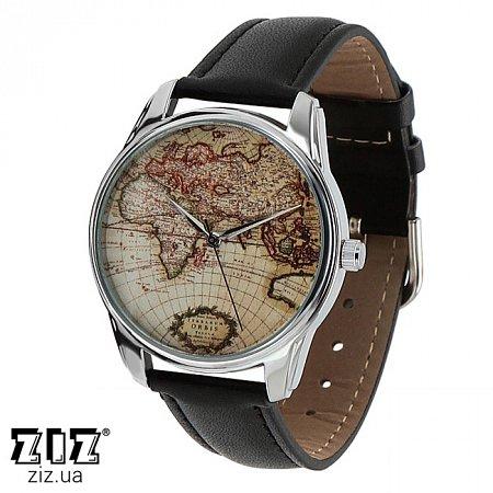Часы наручные с рисунком Карта, ZIZ-1404301