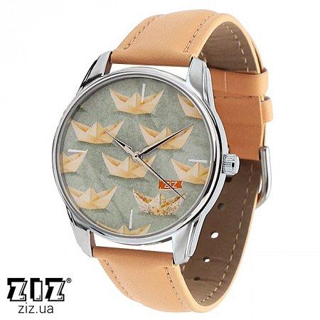 Часы наручные с рисунком Кораблики кремовый, ZIZ-1413605
