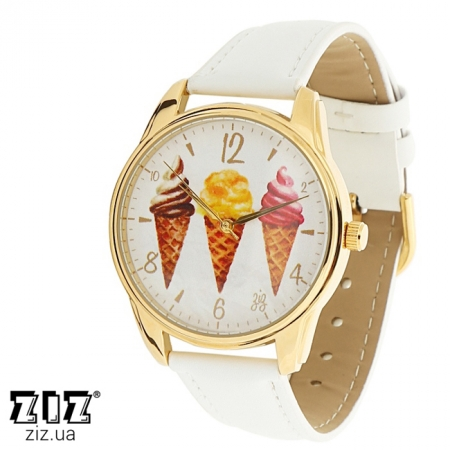 Часы наручные с рисунком Мороженое золотой, ZIZ-1414802
