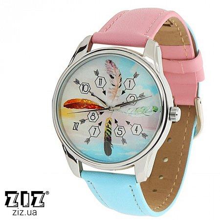 Часы наручные с рисунком Перья, ZIZ-1414616