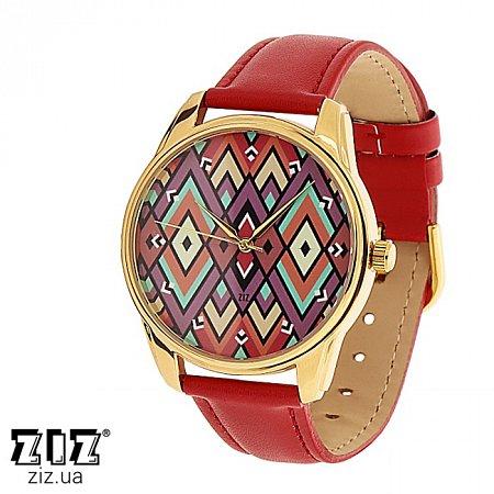 Часы наручные с рисунком Ромбы, ZIZ-1415612