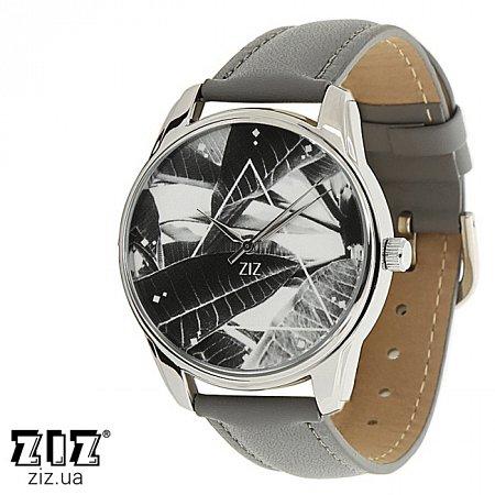 Часы наручные с рисунком Тропический серый, ZIZ-1415711