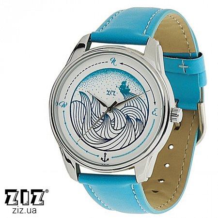 Часы наручные с рисунком Волна, ZIZ-1414915