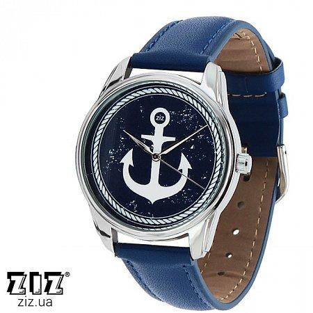 Часы наручные с рисунком Якорь синий, ZIZ-1402209