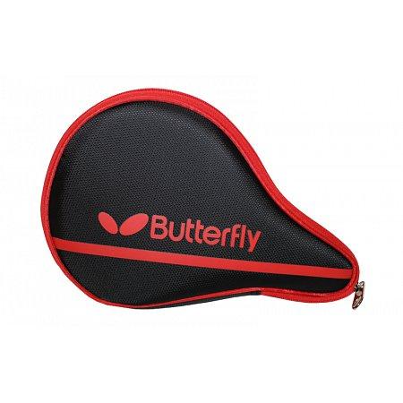 Чехол для ракетки настольного тенниса BUTTERFLY 62140006 NAKAMA (PL,черно-красный,р-р 30х3х19см)