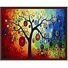 Дерево богатства, серия Цветы, рисование по номерам, 40 х 50 см, Идейка, Денежное дерево (KH230)