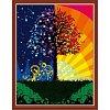Дерево счастья, Серия Пейзаж, рисование по номерам, 40 х 50 см, Идейка, Дерево счастья (KH224)