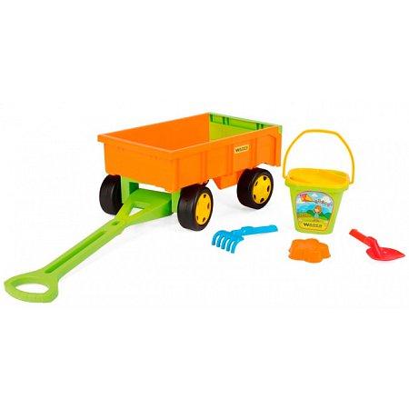 Детская тележка с набором для песка, Wader, 10952