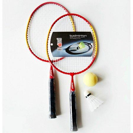 Детский набор для бадминтона - 2 ракетки, волан, мячик, PVC чехол (MB-125)
