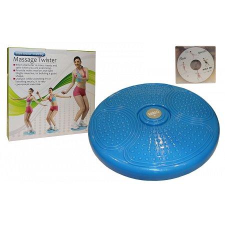 Диск здоровья массажный d-48см PS K80 (пластик, +DVD, толщина-5см)