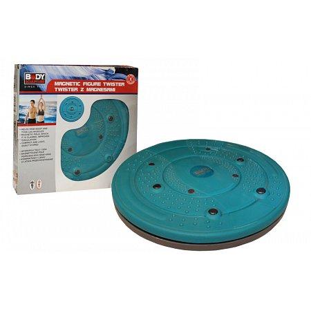Диск здоровья массажный с магнитами d-29см BODY SCULPTURE BB-955-B (пластик, толщина-3см)