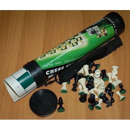 Дорожные шахматы Maxi в тубусе, поле винил 51 x 51 см, фигуры пластик