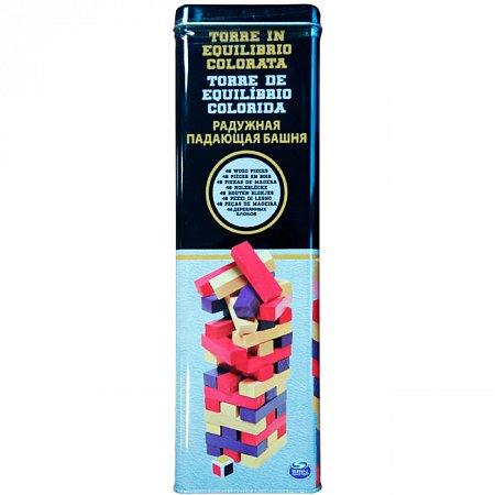Дженга с цветными брусочками (в жестяной коробке). Настольная игра, Spin Master, SM98365/6033150