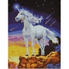 Единорог белый на скале, серия Животные и птицы, рисование по номерам, 40 х 50 см, Идейка, Единорог на скале (KH309)