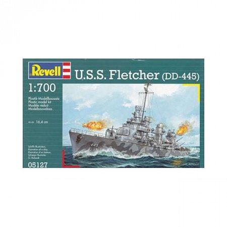 Эсминец U. S. S. Fletcher (DD-445), 1:700, Revell (05127)