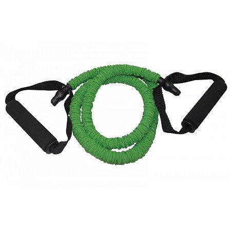 Эспандер трубчатый с ручками в защитном рукаве CE6502-G (латекс.жгут, d-6 x 12мм, l-120см, зеленый)