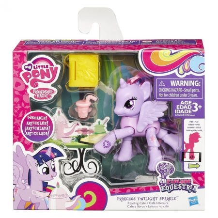 Фигурка Сумеречной Искорки (Twilight Sparkle) с книгой в кафе, Дружба - это чудо, My Little Pony, принцесса, B3598-3