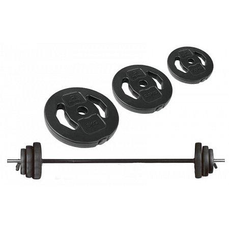 Фитнес памп (штанга для фитнеса) BP3020 20кг (гриф l-1,3м,d-28мм,в плас.обол.блины 2x(1,25+2,5+5кг))