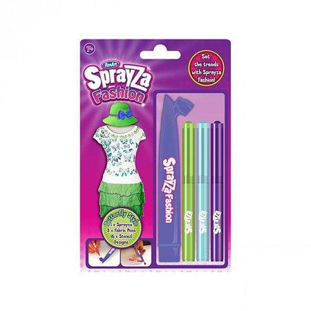 Фломастеры и трафареты, набор Стиль бабочки для рисования на ткани, серии Sprayza, RenArt, SF6003UK(UA)