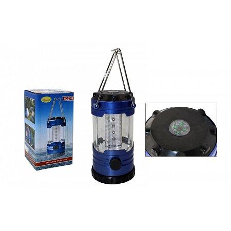 Фонарь кемпинговый светодиодный переносной TY-9789 (12led ламп, компас, на бат. (3 AA), р-р14х8см)