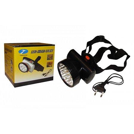 Фонарик налобный EX038B-12 (пластик, 12 светодиодов, на аккумуляторе, 3 уровня освещения)