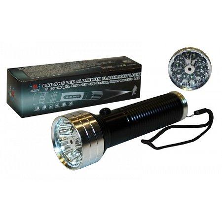 Фонарик ручной светодиодный BL-104-3-7-1 (3 функции, металл, пластик, 11 светодиод, на батарейках)