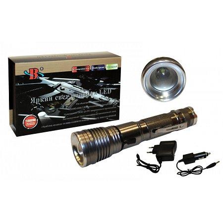 Фонарик ручной светодиодный BL-777 (металл, пластик, 1 Cree Led лампа, zoom,на аккум.или батар.3ААА)