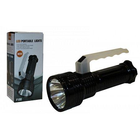 Фонарик ручной светодиодный F180 (пластик, 1 Cree Led лампа, на батарейках (3 АА))