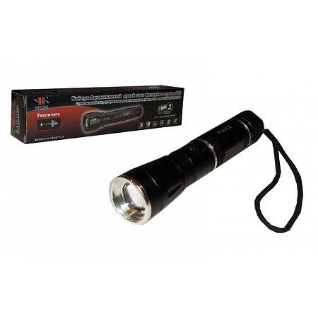 Фонарик светодиодный BL-8434 (металл, пластик,l-14см, 1 Cree лампа, zoom, на батарейках (3 AAA))