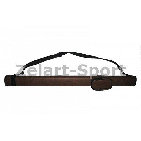 Футляр для кия-тубус KS-381 (р-р 82x9x5см, PVC, полиэстер, коричневый)