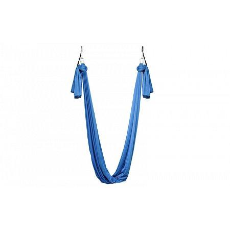Гамак йога (аэройога гамак) Yoga swing FI-4440-BL (2шт крепление, нейлон, l-5м, b-2,8м, голубой)