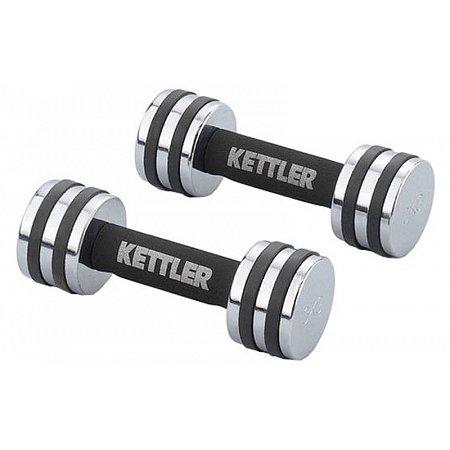 Гантели для фитнеса хром. KETTLER (2 x 4кг) KTLR7446-450 (2шт, хормированное покрытие)