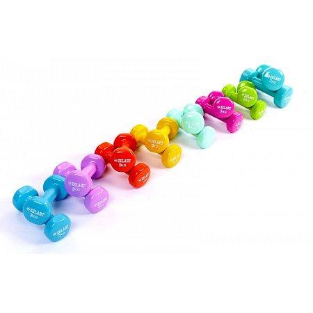 Гантели для фитнеса с виниловым покрытием Beauty (2x3кг) TA-5225-3(P) (2шт, цвет в ассорт)