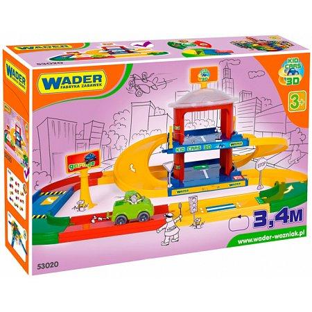 Гараж 2 этажа с дорогой 3,4 м Kid Cars, Wader, 53020