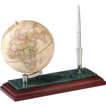 Глобус настольный Bestar на деревянно-мраморной подставке, орех (0913WDN)